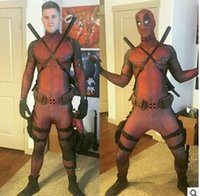 Wholesale HOT Movie The Avengers Deadpool Cosplay Costume Original Edition Clothing Dyeing Printing Tights Good Permeability hight qualit