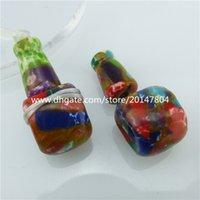 Wholesale 2PCS Stone Religious Buddhism Three Direct Links Pendamulticolornt Bead Jewelry Making