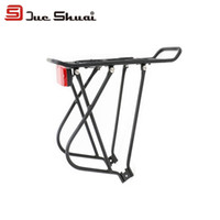 Wholesale Aluminum Alloy Inch Inch Adjustable Cycling Mountain Bike Luggage Carrier Rear Rack With Red Rear Light