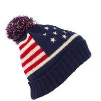 beanie usa - Men Women Baggy Winter USA Flag Thick Knit Beanie Pom Stocking Hat Skull Ski Cap