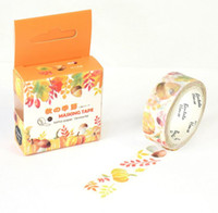 scrapbooking supplies - JA117 The Harvest of Autumn Decorative Washi Tape DIY Scrapbooking Masking Tape School Office Supply Escolar Papelaria