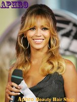 beyonce hair styles - Two Tone Color Black to Blonde Indian Human Hair Full Lace Wigs With Blonde Bangs density B Beyonce Style Ombre Lace Front Wigs