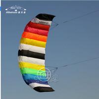 Wholesale 2 m Rainbow S Line Stunt Parafoil Sport outdoor toys albatross KITE FREE