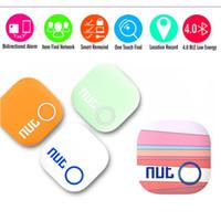 Wholesale DHL free Nut Tracker Smart Tag Intelligent Bluetooth Anti lost alarm Tracking Child Pouch Pet Wallet Key Finder GPS Locator Alarm