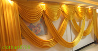 beige curtains - 6m wide valance wedding stylist backdrop Party Curtain Celebration Stage Performance Background Satin Drape wall