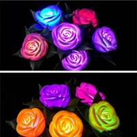 Wholesale Rose Flowers LED Light Wedding Favors Romantic Valentine s Day Night Lights Lamps Light Up Toy Festival Party Decoration