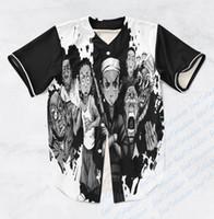 baseball custom t shirts - REAL USA SIZE Custom made Fashion D Sublimaiton Print Boondocks Unisex Baseball Jersey t shirt Plus Size XL XL XL XL