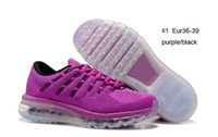 Wholesale New air cushion Training Shoes Women s MAX purple red sneakers size Eur36