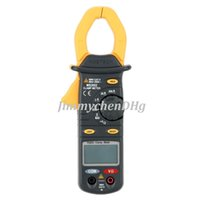 Wholesale AC DC Digital Clamp Multimeter Measure Current Voltage Resistance Electronic Tester Meter MASTECH MS2002
