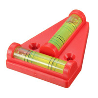 Wholesale 2 Way T type Bubble Spirit Level Triangular measurement instrument Plastic Mini bubble level indicator Accessories