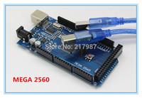 Wholesale Free shiping Mega R3 Mega2560 REV3 ATmega2560 AU Board USB Cable Compatible Good Quality Low Price