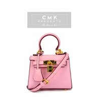 mini padlock - CMK KB151 Cross Grain Princess Handbag Super Mini cm Padlock Candy Colors Kids Crossbody Bag for Girls with Strap Children Bag