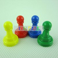 Wholesale 24pcs colors Board Ludo Checkers game pieces plastic spare parts Monopoly board games installed role IVU