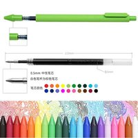 Wholesale 12 Colors Gel Pens Drawing Painting Pen Sketch Marker Pen School Office Supplies