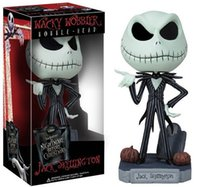 baby nightmares - 16CM The Nightmare Before Christmas Action Figure Jack Wacky Wobbler Bobble Head PVC Model Toy Collection Baby Boys Girls Gifts