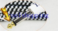 Wholesale Guitar Cable M FT Black and White Cloth Braided Tweed Guitar Cable Cord for Musical Instrument