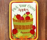 apple crafts kids - PICK YOUR OWN APPLES creative posters cm Decorative sheet metal painting furnishing articles crafts and gift