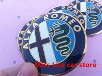 alfa alloy wheels - 4pcs mm cm Alfa Romeo car Wheel Center Hub Cap Wheel Dust proof Badge emblem covers Auto Accessories