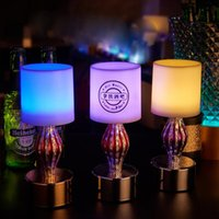 bar cup rack - LED Light Wine Rack Bar Led Lamp Creative Table Lamp Night Light Emitting Candles LED Charging Light Bullet Holes Cup Led Bar Lamp D17