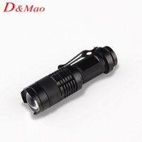aa aluminum - Mini CREE Q5 LED LM E17 Aluminum Torches Zoomable Flashlight Torch Lamp For AA or Battery