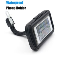 Wholesale Universal Waterproof Motorcycle Mobile Phone Holder Bag Mount Stand Cellphone Case For iPhone S Plus Samsung Galaxy Note
