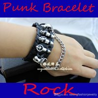Wholesale Punk non mainstream personality leather bracelet