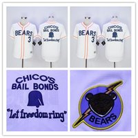bears white jersey - Bad News BEARS Movie Button Down Jersey Bad news BEARS Chicos Bail Bonds Retro Baseball Jersey White Hot Sale Cheap Stitched