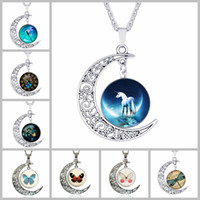 animal times - 2016 New Arrivals Famous Movie Butterfly Vintage Statement Necklaces The Moon Time Gemstone Pendant Necklaces