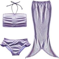 Filles Mermaid Costume de queue pour la natation baignable Bikini split maillot de bain sec vitesse de printemps costume chaud