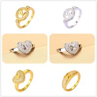 With Side Stones best cubic zirconia rings - 24K Yellow Gold Silver Plated Rings Luxury Brand Best Crystal AAA CZ For Women Split Evening Dresses Top Fashion Oscar Oorbellen Hot Sales