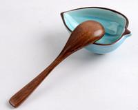 Wholesale The ice cream Coffee Nanmu Spoon creative Tableware Home kitchen supplies seasoning spoon Baby Dinnerware Size cm