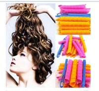band curl - New cm Magic Hair Curlers Curl Band Formers Case Spiral Ringlets Leverage Rollers