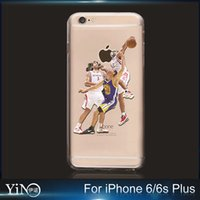 apple basketball - Fashion American Basketball Super Star Stephen Curry Transparent TPU Case Cover For iPhone s plus