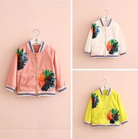 Wholesale 2016 new fashion Fall blue stripe contrast color hooded jacket For girls children s clothing boutique clothes