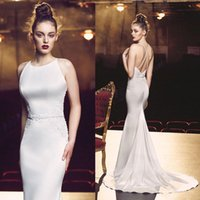 apple buttocks - Sexy dance dress white condole belt backless dress formally package buttocks fishtail gown Formal evening dress