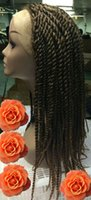 Wholesale X pression QUE JUMBO SENEGAL TWIST CROCHET BULK BRAIDING HAIR HAVANA MAMBO STYLE WIGS COLOR T27 inch freen shipping