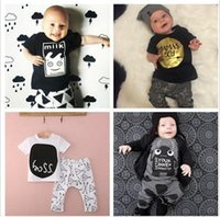 free shipping clothes - INS Baby Outfits Sets Cotton Piece Set Boys Girls Baby Clothing Suits Clothes