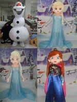 Haute qualité Olaf mascotte costume Elsa reine mascotte costume et la princesse Anna mascotte Taille adulte livraison gratuite