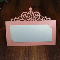 Wholesale New wed table card Wed Decorations Centerpieces Party place card Caio style name card hollow seating cards personalized table cards