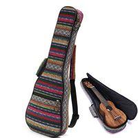 beautiful ukuleles - New Arrival Beautiful Soft Pad Cotton Folk Style Hand Portable Bag Case Cover For Ukulele Small Guitar Gig Bag