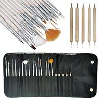 acrylic nail kit supplies - Pro set Artist Paint Brush Pen Set Nylon Hair Acrylic Oil Painting Watercolor Supplies Nail Body Art Brushes Kit DIY Tools