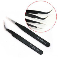 Wholesale 2X Stainless Steel Eyelash Pick Tools Cosmetic Tweezers Nail Art Supplies A2B