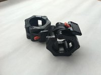 Wholesale New Pair Lock Jaw Barbell Collars Clamps For Olympic Bars Crossfit Exercise