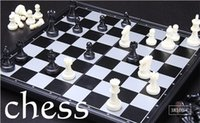 big chess board - Board game International chess Puzzle game Folding chess Magnetic Desktop chess checkerboard and kids toy chess