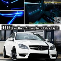 amg tuning - interior Ambient Light Tuning Atmosphere Fiber Optic Band Lights For Mercedes Benz C C63 MB W202 W203 W204 W205Door Panel illumination Refit