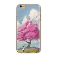 art phone covers - Fashion creative semi transparent landscape art and literature scenery series phone back cover shell TPU material For iPhone s s plus