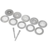 Wholesale 10Pcs mm Diamond Cut Off Disc Wheel Rotary Tool Two Mandrel Arbor B00067 BARD