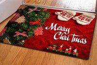 Wholesale Cheap rubber cushion rubber non slip mats and hot Christmas decorations doormat