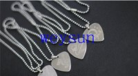 Wholesale Guitar Pick Necklace with cm in Ball Chain Silver Color Stainless Steel Guitar Parts and Accessories