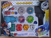 Wholesale hot sell pc beyblade with launch Beyblade Exclusive spinning top Best PVC Multicolor Launch Beyblade